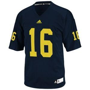 Adidas University of Michigan #16 Jersey Size XL